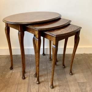 Edwardian Nest of Three Tables