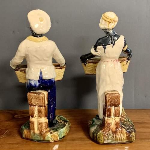 Pair of 19th Century Majolica Blackamoor Figures image-4