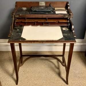 19th Century Mahogany Campaign Desk