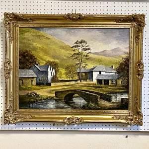 Oil on Board Landscape Painting by Glynn Barker