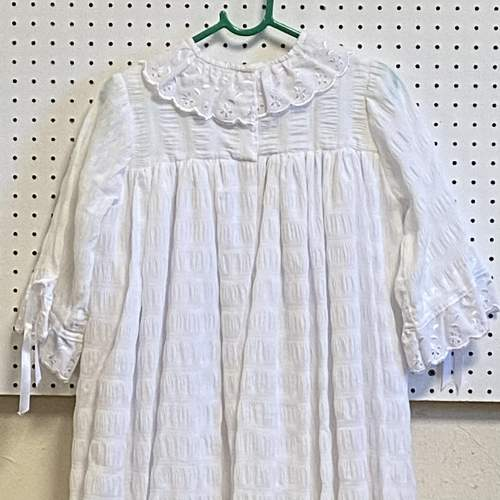 Vintage Handmade Christening Gown with Pink Flowers image-4
