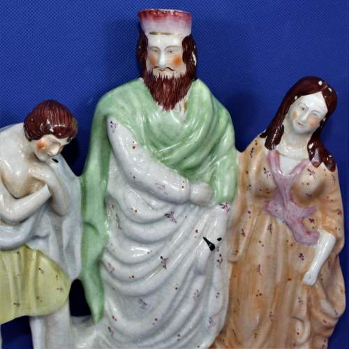 Staffordshire Flat Back with a Religious Theme Circa 1860 image-2
