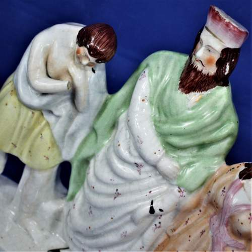 Staffordshire Flat Back with a Religious Theme Circa 1860 image-5