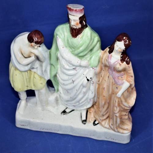 Staffordshire Flat Back with a Religious Theme Circa 1860 image-1