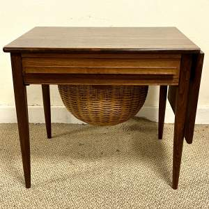 Danish 1960s Sewing Table by Johannes Andersen