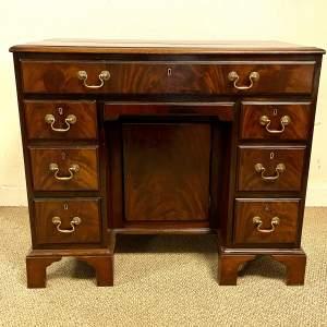 Circa 1900 Mahogany Kneehole Desk