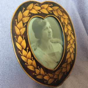 Antique Early 20th Century Hand Painted Picture Frame