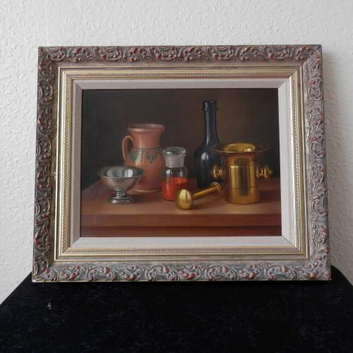 Still Life Painting Oil on Board by Andras Gombard image-1