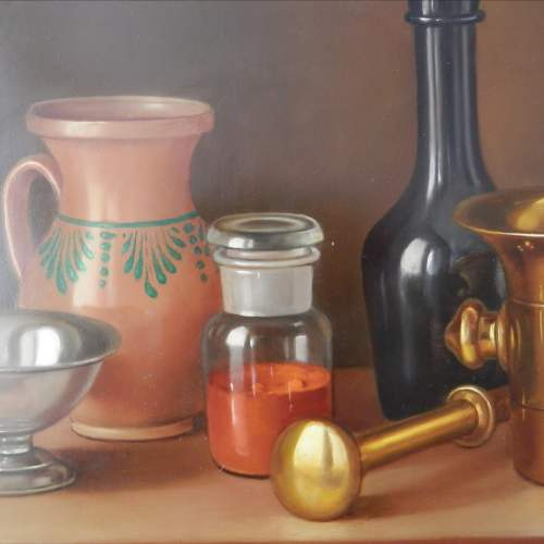 Still Life Painting Oil on Board by Andras Gombard image-4