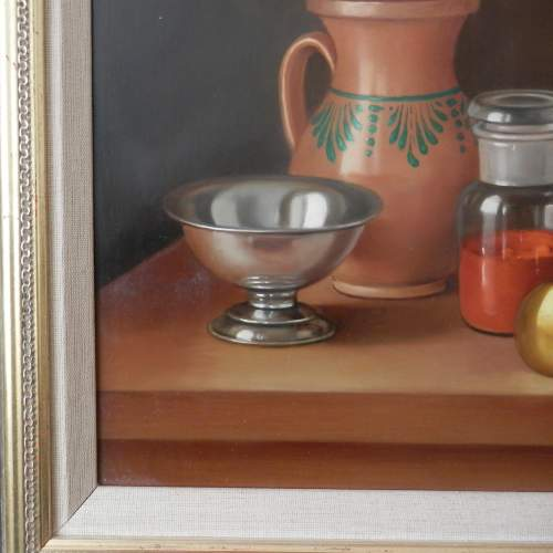 Still Life Painting Oil on Board by Andras Gombard image-3