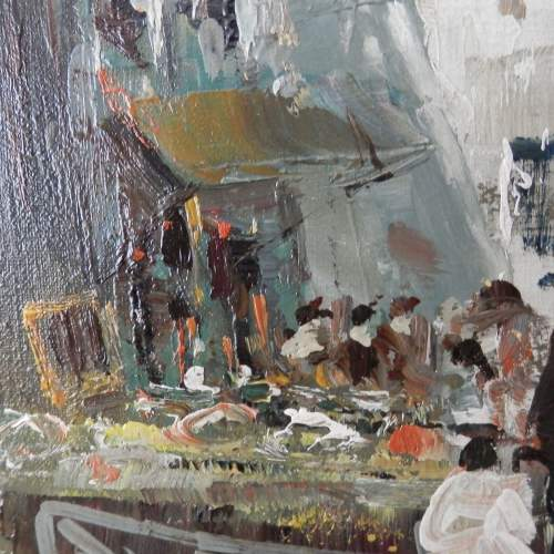 Oil on Canvas Street in Naples by D Elkro image-4