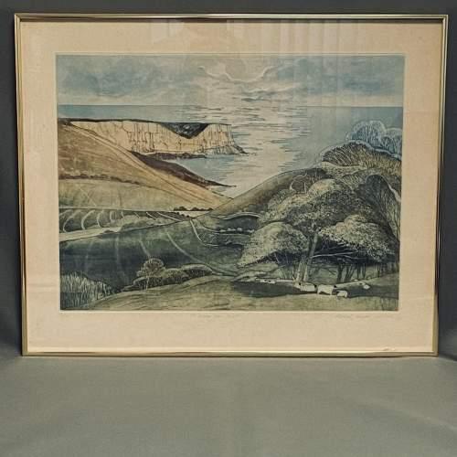 Michael Chaplin Limited Edition Engraving - St Albans Head Dorset image-2