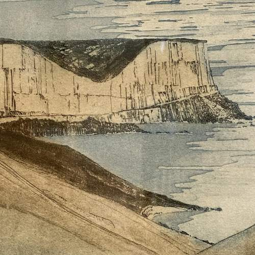 Michael Chaplin Limited Edition Engraving - St Albans Head Dorset image-3