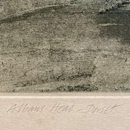 Michael Chaplin Limited Edition Engraving - St Albans Head Dorset image-5