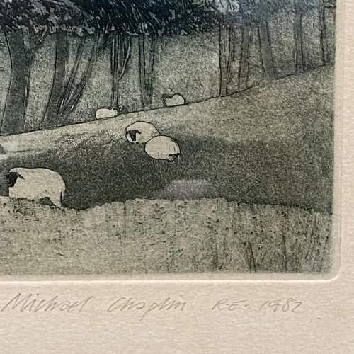 Michael Chaplin Limited Edition Engraving - St Albans Head Dorset image-6