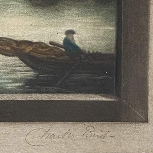 Early 19th Century Signed Print of a Windmill on a Cliff image-6