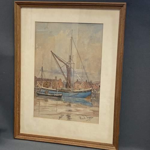 Pair of Pre War Original Watercolours of Blackstone Harbour image-3