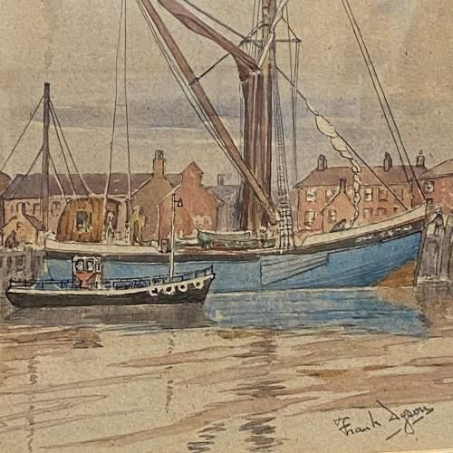 Pair of Pre War Original Watercolours of Blackstone Harbour image-4