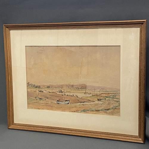 Pair of Pre War Original Watercolours of Blackstone Harbour image-5