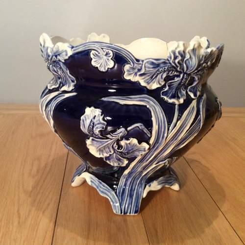 De Bruyn Faiencerie Art Nouveau Cache Pot Circa 1890 image-1