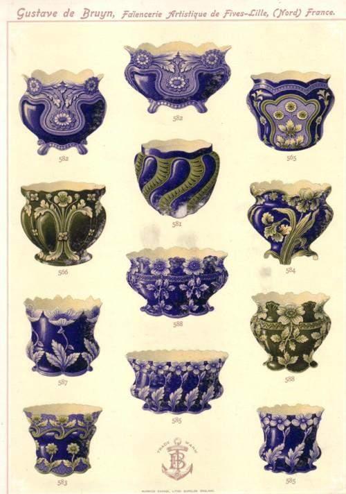 De Bruyn Faiencerie Art Nouveau Cache Pot Circa 1890 image-5