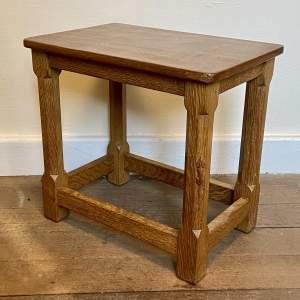 Mouseman Small Side Table