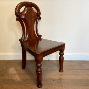 Edwardian Mahogany Hall Chair
