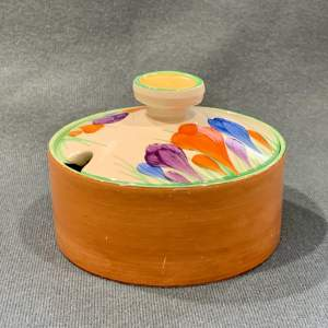 Clarice Cliff Crocus Jam Pot