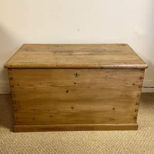 Victorian Pine Blanket Box