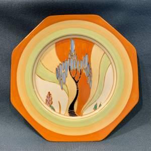 Clarice Cliff Windbells Octagonal Plate