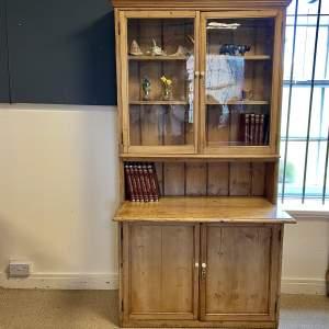 Victorian Glazed Bookcase Dresser