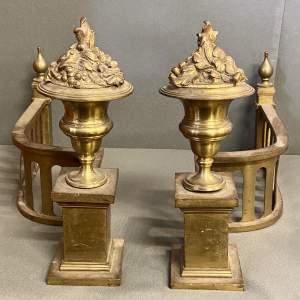 Pair of 19th Century Gilt Bronze Chenets