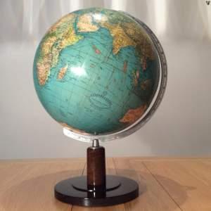 "Vintage 13"" Columbus Terrestrial Globe Circa 1930"