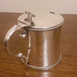 Late Victorian English Sterling Silver Mustard Pot