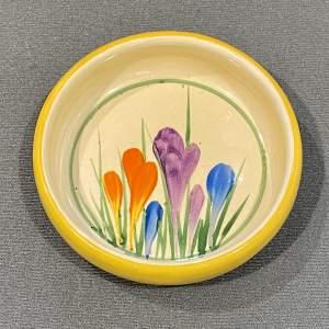 Clarice Cliff Crocus Pin Dish or Coaster