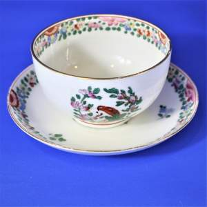 Royal Worcester Parrot Cup and Bowl Circa 1912