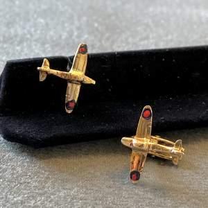 9ct Gold Spitfire Cufflinks