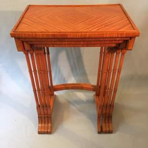 Satinwood Quartetto Nest of Tables Circa 1900