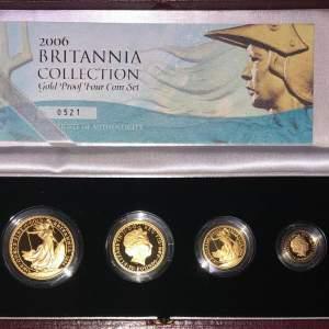 2006 Britannia Gold Proof Four Coin Set