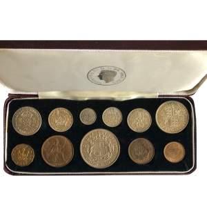 1937 George VI Specimen 11 Coin Set