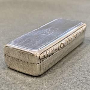 Early 19th Century Silver Snuff Box