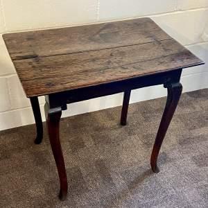 George I Low Oak Side Table