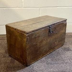 18th Century Unusual Painted Small Pine Box