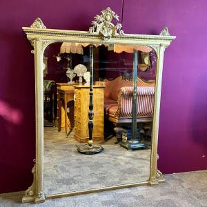 Victorian Large Giltwood Framed Mirror