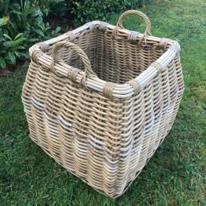 Vintage Large Full Wicker Log Basket