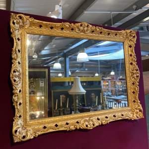 19th Century Parcel Gilt Framed Wall Mirror