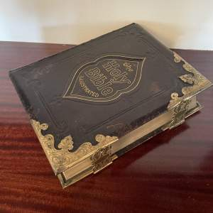 A Beautifull Victorian Leather Bound Bible