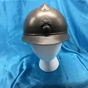 A French World War I M15 Adrian Helmet