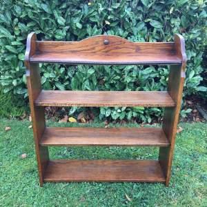 Edwardian Golden Oak Open Bookcase