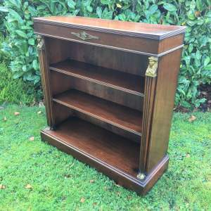 Early 20th Century French Empire style Open Bookcase